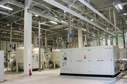 kompresorová stanice s turbokompresory HANWHA Techwin, série TM (vč. odhlučněného krytu)