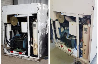 Compressor before service and after service