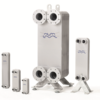Fusion-bonded plate heat exchangers